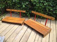 Sièges de wagon vintage antiques seats