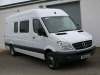 MERCEDES SPRINTER 515 LWB HIGH MINIBUS CREW CAMPER MOTORHOME BAND MOTO X DAY VAN