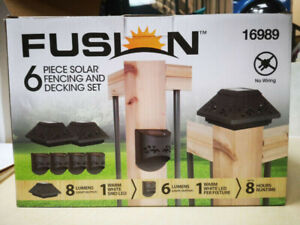 6 Piece Solar Fencing and Decking set