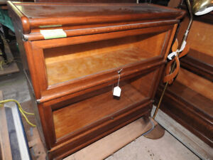 10 Antique barrister bookcases, 2 and 3 glass levels, restored