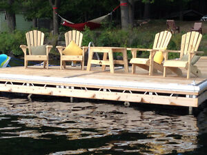 Cedar Muskoka Chairs & Tables - Locally Sourced Lumber