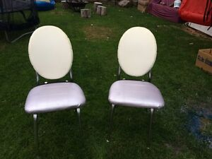 Up cycled retro/vintage conversation chairs