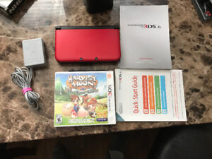 Red Nintendo 3DS XL System And Game