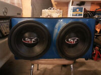"""2 12"""" Punch subs with hertz amp"""