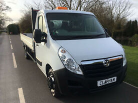 2015 15 VAUXHALL MOVANO FLATBED 2.3CDTI L4H1 125BHP 1 COMPANY OWNER 40,000 MILES