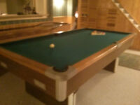 Free Pool Table (not slate) and Accessories-Pick up please