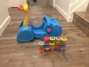 Fisher price hippo walker/ride on and blocks