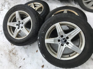 Mercedes benz mags 17 pouces 4 rims wheels for benz 17 inch