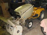 Cub Cadet lawn tractor and snow blower