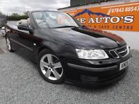 Saab 9-3 2.8 V6 auto 2006MY Aero Convertible black petrol