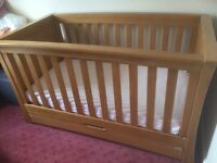 Mamas & Papas Ocean Cot Bed - Solid Oak