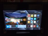 "Luxor 55"" smart tv near brand new"