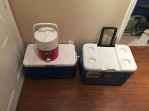 Camping stuff and Coolers for sale