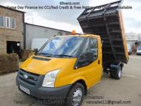 2006 56 FORD TRANSIT TIPPER, DROPSIDE, PICK UP, 77651 MILES! COUNCIL OWNED,