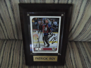 Autographed Patrick Roy Hockey Card