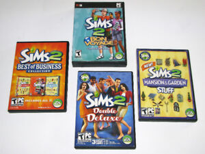 THE SIMS 2 PC WITH 6 EXPANSIONS LOT BON VOYAGE OPEN FOR BUSINESS