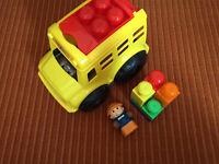 Mega Bloks school bus