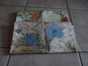Brand new set of 2 upholstery fabric floral print London Ontario image 2