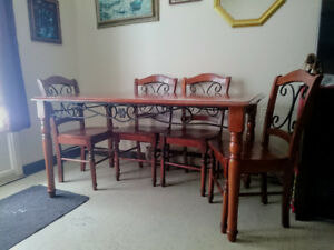 Malaysian Hardwood 5pc. Dining room set