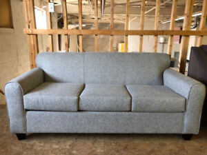 BRAND NEW CANADIAN MADE GREY SOFA ONLY $500