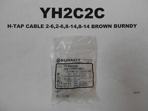 YH2C2C - H-TAP CABLE 2-6,2-6,8-14,8-14 BROWN BURNDY