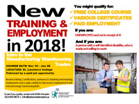 Manufacturing/Warehouse - Free Training and Employment