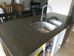 Home appliances and granite counter