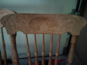 Vintage style solid maple chairs - 4 reproduction pressback Cambridge Kitchener Area image 2