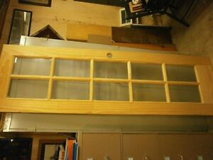Solid Pine 10 window pane French Door, excellent, never used.