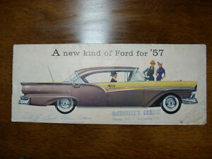 1957 Ford sales brochure RARE