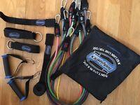 Bodylastics 142lbs home fitness resistance bands set