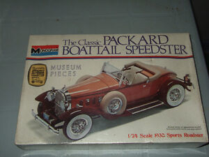 Classic Packard Boattail Speedster Model Car Kit