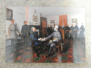 Surrender of General Lee to Grant - Postcard