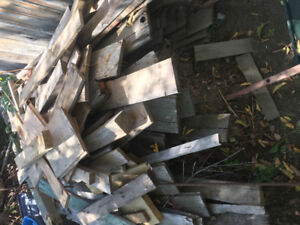 Old Fir fence boards lap siding