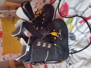 Snowboard, fix & bottes 8.5 us