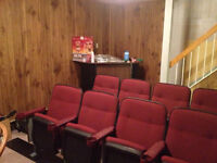 Vintage style cinema seats for an authentic home theatre