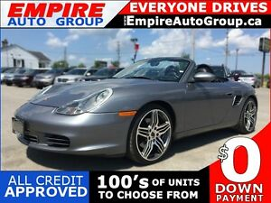 2003 PORSCHE BOXSTER S * RWD * LEATHER * CONVERTIBLE * LOW KM