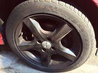 5 Dezent wheels with good condition tyres (Fiesta, polo, mini,focus,micro,swift)