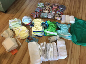 Huge cloth diaper lot (42 total) open to offers