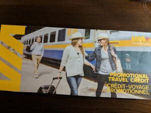 Discounted via rail credit ($300 worth) for sale