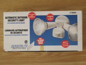 Automatic Outdoor Security Light with Infrared Motion Sensor