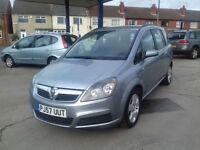 2007, Vauxhall Zafira exclusiv 1.6 ,7 SEATER, 71000 miles