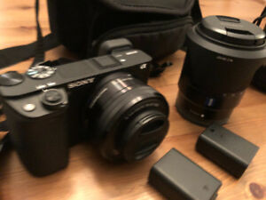 Sony A6300 + Sony Zeiss lens 16-70 + kit lens + a lot of extras