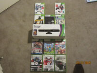 MINT condition kinect and 11 MINT condition games