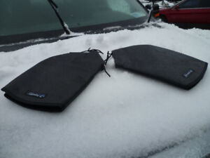 SNOWMOBILE  HANDLE BAR MITTS leather