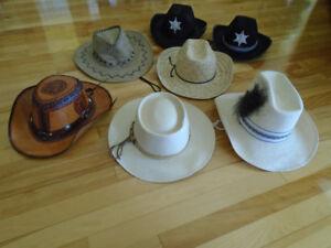 7 chapeau de cowboy divers modèles et couleurs +cravate western