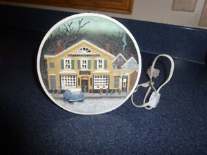 Rockwell Christmas Village Plates