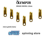 Girella Micro X Traina Olympus N 6 Lb 187 Kg 85 Brass Swivel Sea 1058 - olympus - ebay.it