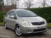 2003 TOYOTA COROLLA VERSO 2.0 D-4D T SPIRIT**13 SERVICE STAMPS + LOW MILES 78K*