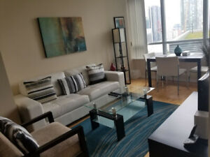 August 11: Furnished downtown 1 Bed+large Den @ Maple Leaf Sq